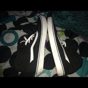 Vans Shoes - Black and White Hightop Vans